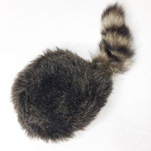Davey Crockett Raccoon Tail Hat